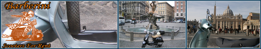 rent scooter, Vespa and bicycle in Rome